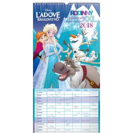 Nástěnný kalendář Rodinný plánovací XXL – Ledové království SK 2018, 33 x 64 cm