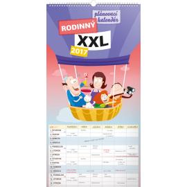 Nástěnný kalendář Rodinný plánovací XXL SK 2017, 33 x 64 cm