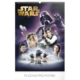 Nástěnný kalendář Star Wars – Plakáty 2017, 33 x 46 cm