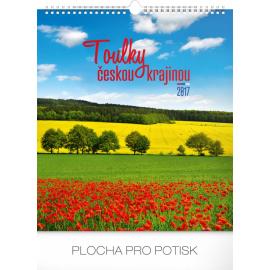 Nástěnný kalendář Toulky českou krajinou 2017, 30 x 34 cm