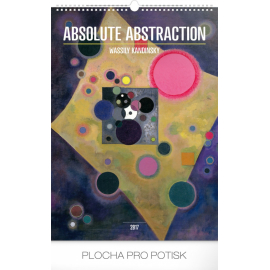 Nástěnný kalendář Wassily Kandinsky – Absolutní abstrakce 2017, 33 x 46 cm