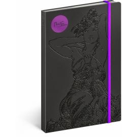 Notes Alfons Mucha – Ametyst, linkovaný, 13 x 21 cm
