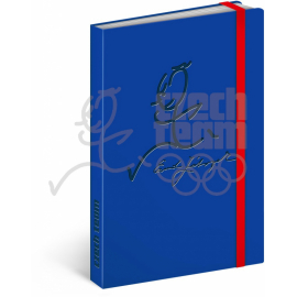 Notes Český olympijský tým, modrý, linkovaný, 13 x 21 cm