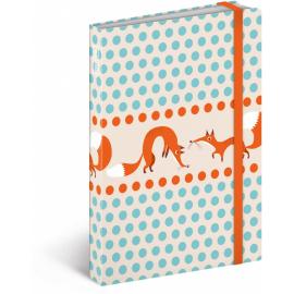Notes Foxie, linkovaný, 10,5 x 15,8 cm