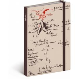 Notes Hobbit krémový, linkovaný, 10,5 x 15,8 cm