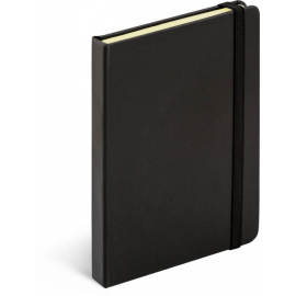 Notebook Tucson black/black, lined, 13 x 21 cm