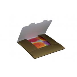 Obálka dárková na kalendáře 30x30 cm - zlatá, balení 3 kusy
