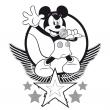 Plánovací kalendář Mickey Mouse s omalovánkami, nedatovaný, 30 x 30 cm