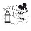 Poznámkový kalendář Mickey Mouse – DIY: omalovánkový kalendář, 30 x 30 cm