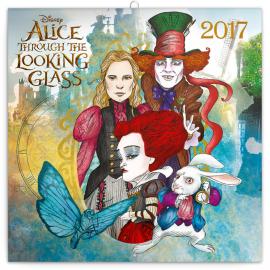 Poznámkový kalendář Alenka v říši divů: Za zrcadlem 2017, 30 x 30 cm