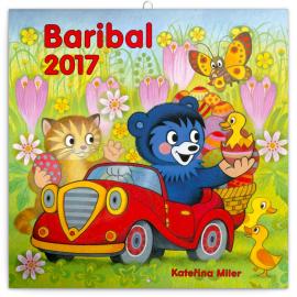 Poznámkový kalendář Baribal 2017, 30 x 30 cm