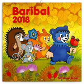 Poznámkový kalendář Baribal 2018, 30 x 30 cm