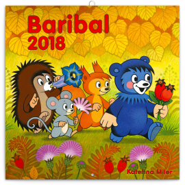 Grid calendar Baribal 2018, 30 x 30 cm