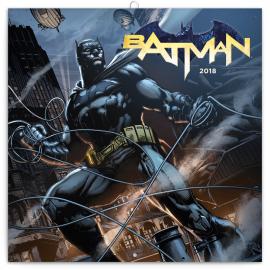 Poznámkový kalendář Batman 2018, 30 x 30 cm