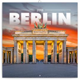 Grid calendar Berlin 2018, 30 x 30 cm