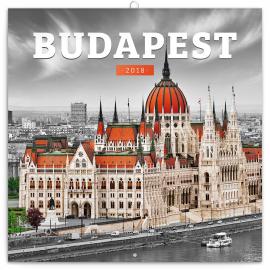 Grid calendar Budapest 2018, 30 x 30 cm