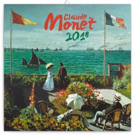 Poznámkový kalendář Claude Monet 2018, 30 x 30 cm
