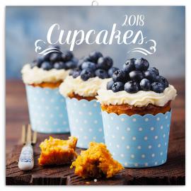 Grid calendar Cupcakes 2018, 30 x 30 cm