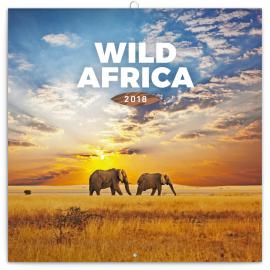 Poznámkový kalendář Divoká Afrika 2018, 30 x 30 cm