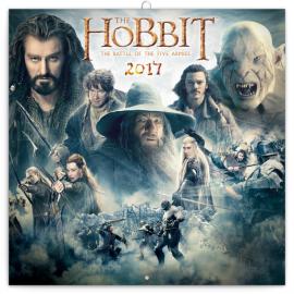 Poznámkový kalendář Hobbit 2017, 30 x 30 cm