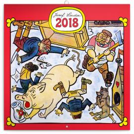 Grid calendar Josef Lada – Řemesla 2018, 30 x 30 cm