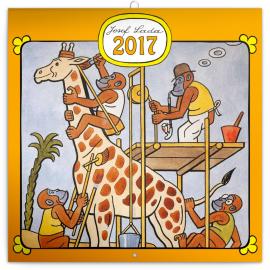 Poznámkový kalendář Josef Lada – Zvířátka 2017, 30 x 30 cm