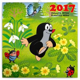 Poznámkový kalendář Krteček 2017, 30 x 30 cm