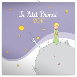Poznámkový kalendář Malý princ (Le Petit Prince) 2017, 30 x 30 cm