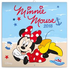 Poznámkový kalendář Minnie 2018, 30 x 30 cm