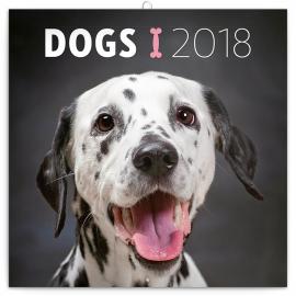 Grid calendar Dogs 2018, 30 x 30 cm
