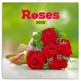 Grid calendar Roses 2018, scented, 30 x 30 cm