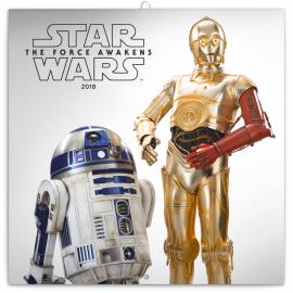 Poznámkový kalendář Star Wars 2018, 30 x 30 cm