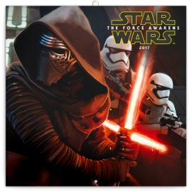 Poznámkový kalendář Star Wars The Force Awakens 2017, 30 x 30 cm
