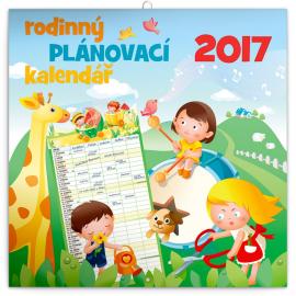 Rodinný plánovací kalendář 2017, 30 x 30 cm
