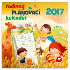 Rodinný plánovací kalendár SK 2017, 30 x 30 cm