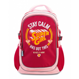 Large backpack with rain poncho Supergirl – STAY CALM