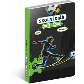 Školní diář Fotbal (září 2017 – prosinec 2018), 9,8 × 14,5 cm