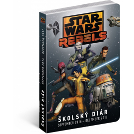Školní diář Star Wars Rebels SK (september 2016 – december 2017), 9,8 × 14,5 cm