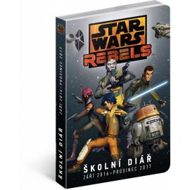 Školní diář Star Wars Rebels (září 2016 – prosinec 2017), 9,8 × 14,5 cm