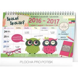 Školní plánovací kalendář s háčkem 2017, 30 x 21 cm