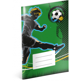 Exercise book Fotball, A5, 40 sheets, squared