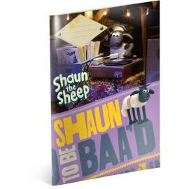 Školní sešit Ovečka Shaun, A4, 40 listů, nelinkovaný