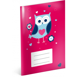 Exercise book Little Owls, A5, 40 sheets, lined