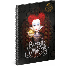 Spiral notebook Alice Through the Looking Glass – Queen, lined, A4