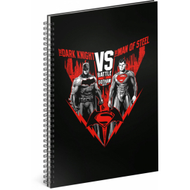 Spiral notebook Batman vs Superman, lined, A4