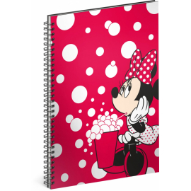 Spiral notebook Minnie – Red, lined, A5