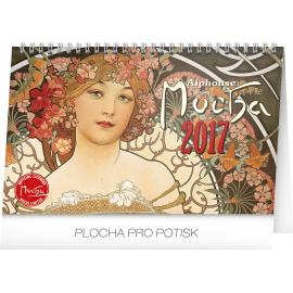 Stolní kalendář Alfons Mucha 2017, 23,1 x 14,5 cm