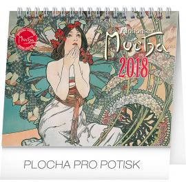 Desk calendar Alfons Mucha 2018, 16,5 x 13 cm