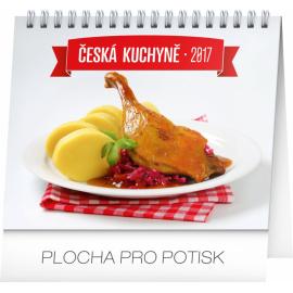 Stolní kalendář Česká kuchyně 2017, 16,5 x 13 cm