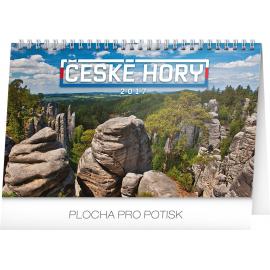 Stolní kalendář České hory 2017, 23,1 x 14,5 cm